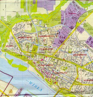 Plock Na Mapach Mapa Plocka Z Poczaku Lat 90 Tych Fotogaleria